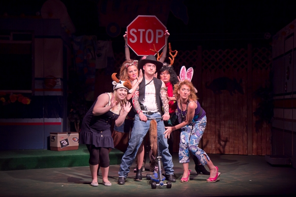 Abigail Nissenbaum as Pickles, Beth Harvison as Lin, Elyse Jasensky as Betty, and Robyn Maitland