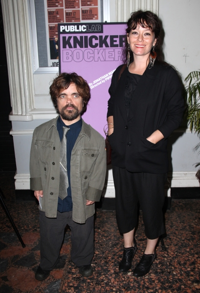 Peter Dinklage & Erica Schmidt attending the Opening Night Public LAB Production of 'KnickerBocker' at the Public Theater in New York City.  at KNICKERBOCKER Opening Night Arrivals at the Public!