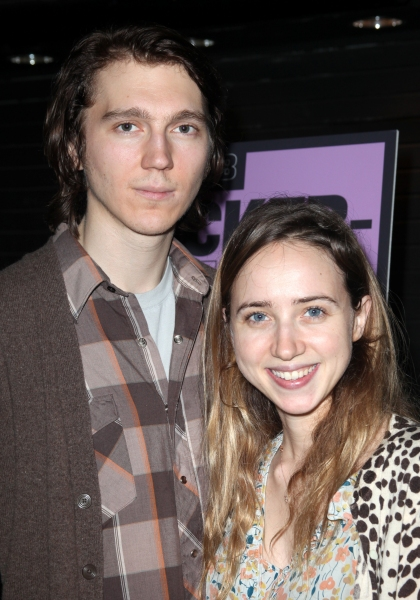 Paul Dano & Zoe Kazan attending the Opening Night Public LAB Production of 'KnickerBocker' at the Public Theater in New York City.  at KNICKERBOCKER Opening Night Arrivals at the Public!