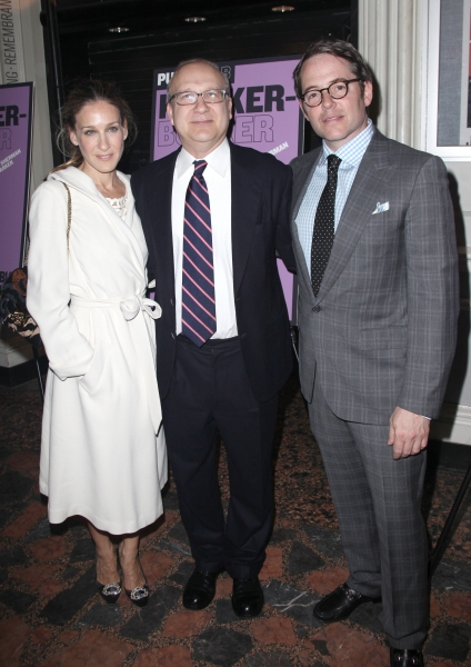 Sarah Jessica Parker, Brother Pippin Parker & Matthew Broderick attending the Opening Night Public LAB Production of 'KnickerBocker' at the Public Theater in New York City.