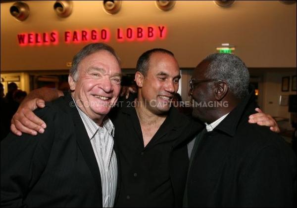 Former Dodger Al Ferrara, Creator/Performer Roger Guenveur Smith and Former Dodger Sweet Lou Johnson