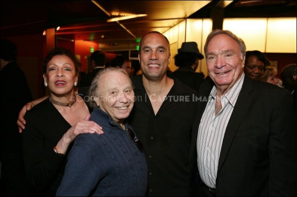 Barbara Fouch-Roseboro (widow of John Roseboro), Bernie Zimmerman, Creator/Performer Roger Guenveur Smith and Former Dodger Al Ferrara