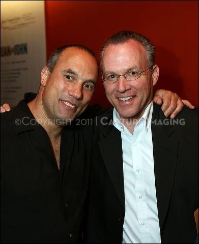 Cast member Roger Guenveur Smith (L) and Dodger Historian Mark Langill