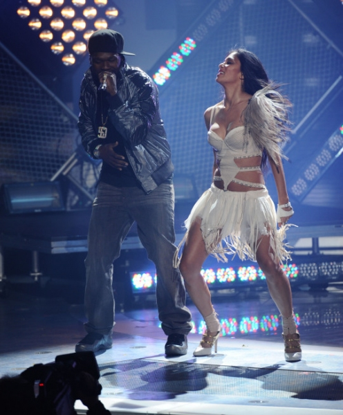 50 Cent and Nicole Scherzinger  at Just Two Left on AMERICAN IDOL!