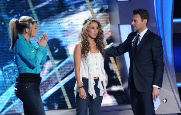 Lauren Alaina, Haley Reinhart and Ryan Seacrest