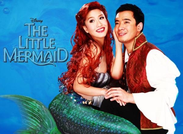 Rachelle Ann Go, Erik Santos at Disney's THE LITTLE MERMAID Premieres in Manila, 11/18