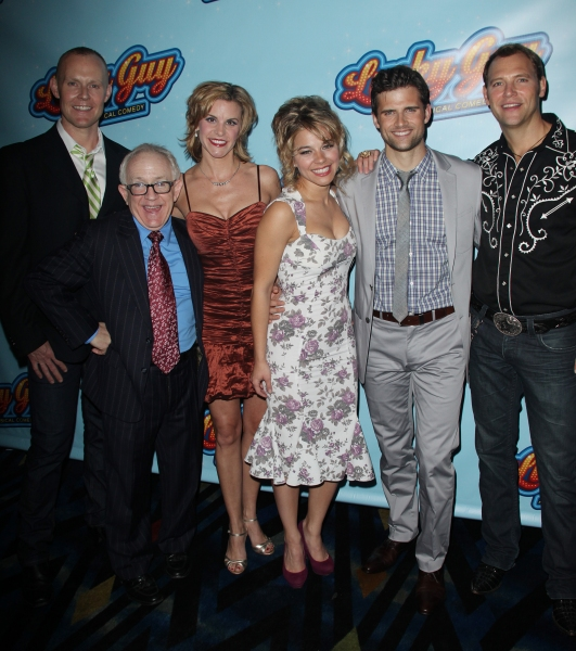 Varla Jean Merman, Leslie Jordan, Jenn Colella, Savannah Wise, Kyle Dean Massey & Jim Newman attending the Opening Night After Party for 'Lucky Guy' at Planet Hollywood in New York City.  at LUCKY GUY Opening Night Party!