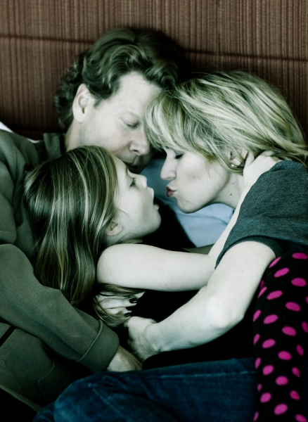 Lauren Kennedy, Adam Campbell and daughter Riley Photo
