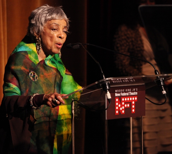 Ruby Dee attending the Woodie King Jr's NFT New Federal Theatre 40th Reunion Gala Ben Photo