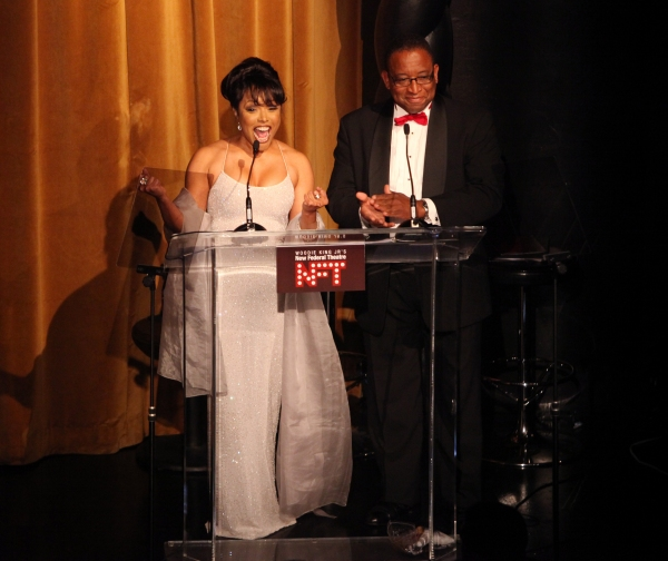 Lynn Whitfield & Randall Pinkston during the Woodie King Jr's NFT New Federal Theatre 40th Reunion Gala Benefit Awards Presentation in New York City