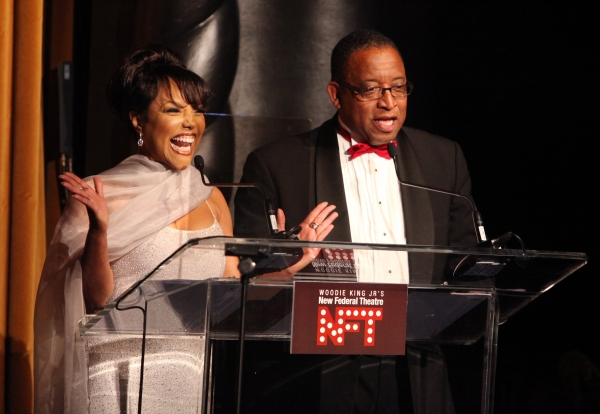 Lynn Whitfield & Randall Pinkston attending the Woodie King Jr's NFT New Federal Theatre 40th Reunion Gala Benefit Awards Presentation in New York City.