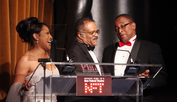 Lynn Whitfield & Ted Lange & Randall Pinkston attending the Woodie King Jr's NFT New Federal Theatre 40th Reunion Gala Benefit Awards Presentation in New York City.