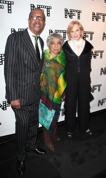 George Faison, Ruby Dee & Pia Lindstrom attending the Woodie King Jr's NFT New Federal Theatre 40th Reunion Gala Benefit in New York City.