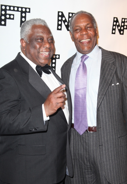 Woodie King Jr. & Danny Glover attending the Woodie King Jr's NFT New Federal Theatre 40th Reunion Gala Benefit in New York City.