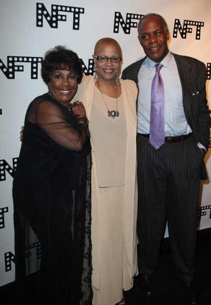 Starletta DuPois, Terrie Williams & Danny Glover attending the Woodie King Jr's NFT New Federal Theatre 40th Reunion Gala Benefit in New York City.