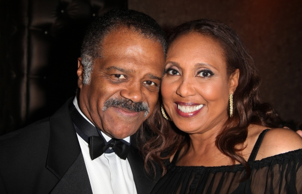 Ted Lange & Thelma Hopkins attending the Woodie King Jr's NFT New Federal Theatre 40th Reunion Gala Benefit in New York City.