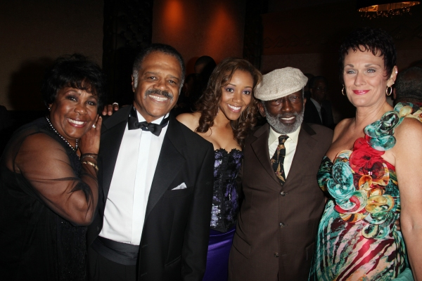 Starletta DuPois, Ted Lange, Chrystee Pharris, Garrett Morris & Guest attending the Woodie King Jr's NFT New Federal Theatre 40th Reunion Gala Benefit in New York City.