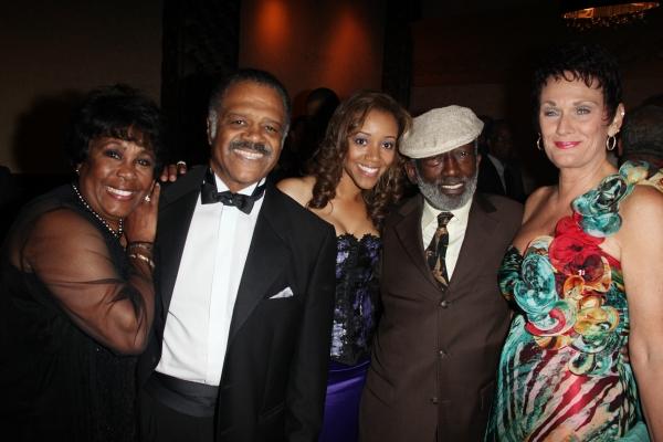 Starletta DuPois, Ted Lange, Chrystee Pharris, Garrett Morris & Guest attending the W Photo