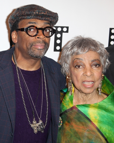 Spike Lee & Ruby Dee attending the Woodie King Jr's NFT New Federal Theatre 40th Reun Photo