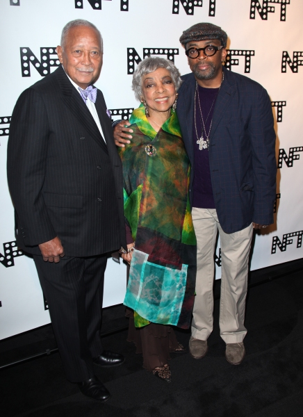 David Dinkins, Ruby Dee & Spike Lee attending the Woodie King Jr's NFT New Federal Th Photo