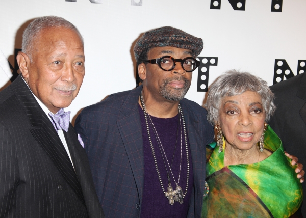 David Dinkins, Spike Lee & Ruby Dee attending the Woodie King Jr's NFT New Federal Th Photo