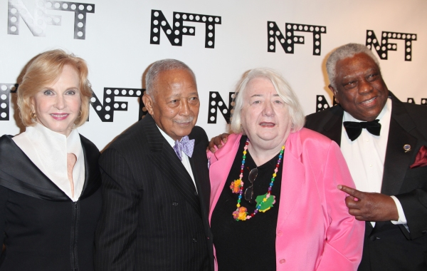 Pia Lindstrom, David Dinkins, Elizabeth McCann & Woodie King Jr. attending the Woodie King Jr's NFT New Federal Theatre 40th Reunion Gala Benefit in New York City.