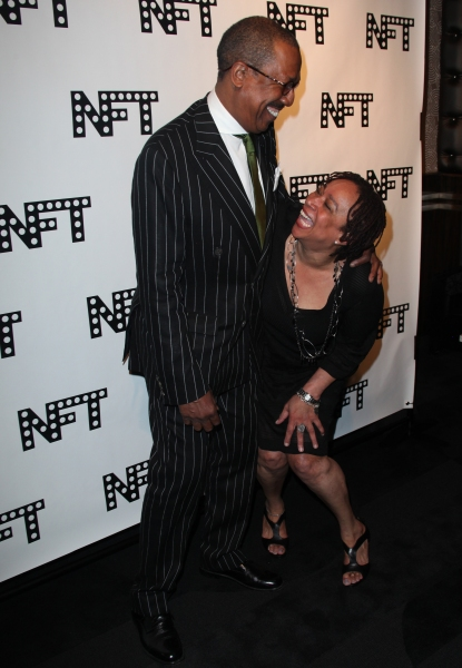 George Faison & S. Epatha Merkerson attending the Woodie King Jr's NFT New Federal Theatre 40th Reunion Gala Benefit in New York City.
