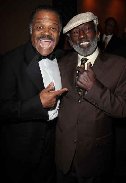 Ted Lange & Garrett Morris attending the Woodie King Jr's NFT New Federal Theatre 40th Reunion Gala Benefit in New York City.