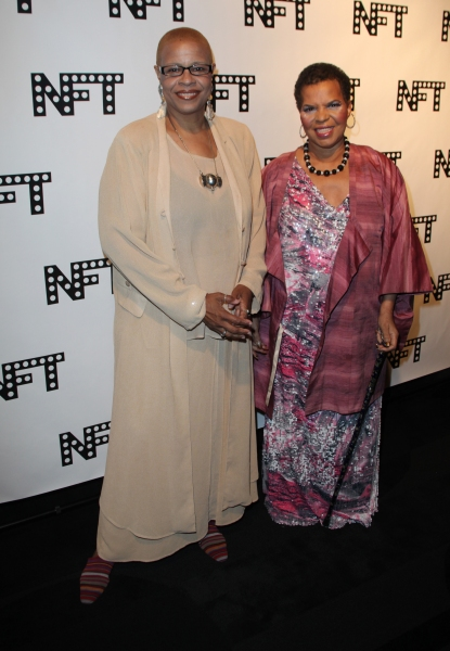 Terrie Williams & Ntozake Shange attending the Woodie King Jr's NFT New Federal Theat Photo