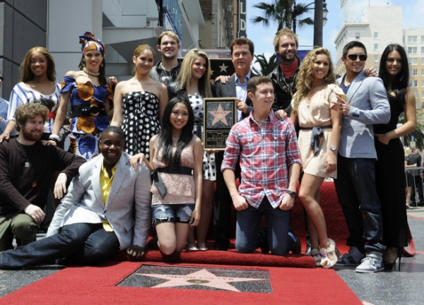 Top 13 contestants with Simon Fuller Photo