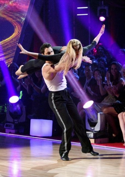 Maksim Cmerkovskiy, Kirstie Alley at The DANCING WITH THE STARS Finale!