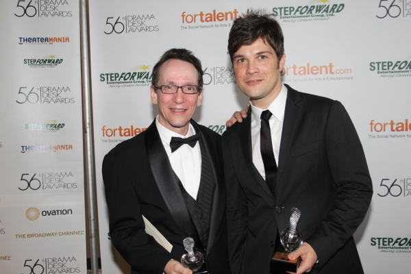 Larry Hochman and Stephen Oremus at 2011 Drama Desk Awards - The Press Room