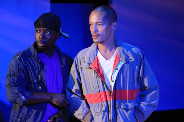 Charlie Hudson and Arthur Acuna  at  BIKE WRECK at the Ensemble Studio Theatre, 5/20-6/18