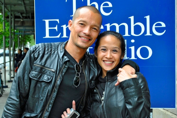 Arthur Acuna and Maritina Romulo pose for BroadwayWorld.com
