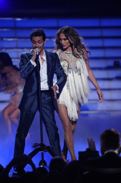 Marc Anthony, Jennifer Lopez at AMERICAN IDOL Season Finale - Lady Gaga, Beyonce, & More!