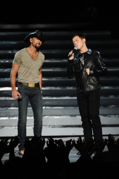Tim McGraw, Scotty McCreery Photo