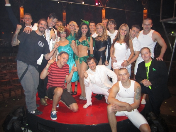 Jonathan Brookins and Cody McKenzie and cast