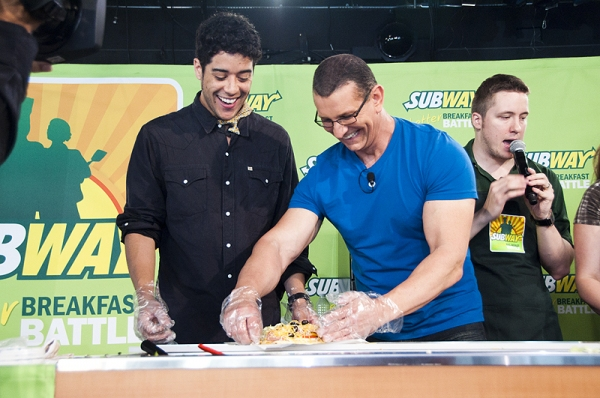Photo Coverage: Celebrity Chef Robert Irvine Challenges ROCK OF AGES in Subway's Contest