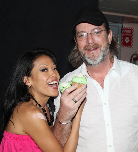 J. Elaine Marcos & C. David Johnson attending the Cupcake Toast celebrating 'Priscill Photo