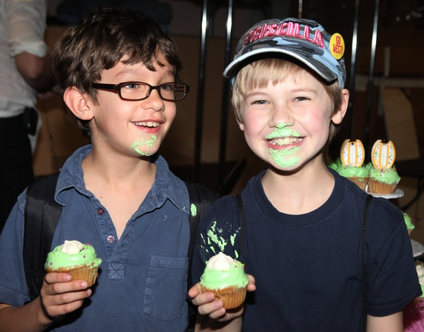 Ashton Woerz & Luke Mannikus attending the Cupcake Toast celebrating 'Priscilla Queen of the Desert' and their 100th Performance on Broadway in New York City.