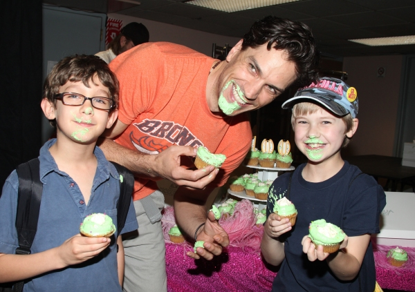 Will Swenson with Ashton Woerz & Luke Mannikus attending the Cupcake Toast celebrating 'Priscilla Queen of the Desert' and their 100th Performance on Broadway in New York City. at PRISCILLA QUEEN OF THE DESERT Celebrates 100th Performance!