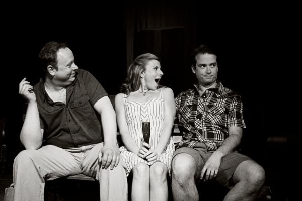 Jarrad Hollbrook (Phillip), Barbara Andrews (Sylvia), and Jacob Walker (Oliver)