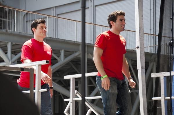 Dominic Nolfi & Jarrod Spector at Broadway at Fleet Week