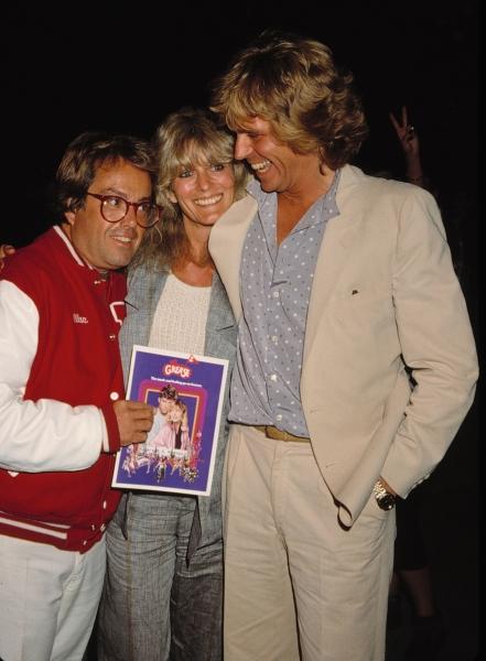 Alan Carr, Jeff Conaway & Rona Newton John in Los Angeles. 1982