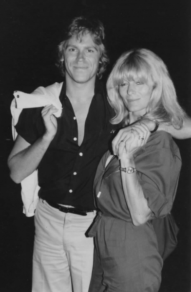 Jeff Conaway & Rona Newton John in New York City.  1980