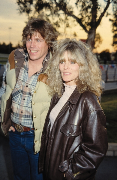 Jeff Conaway & Rona Newton John in Los Angeles. 1982