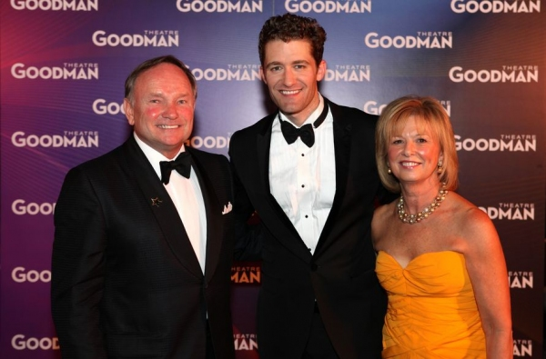 Goodman Board Vice President Joan Clifford and husband Robert Clifford greet headliner Matthew Morrison