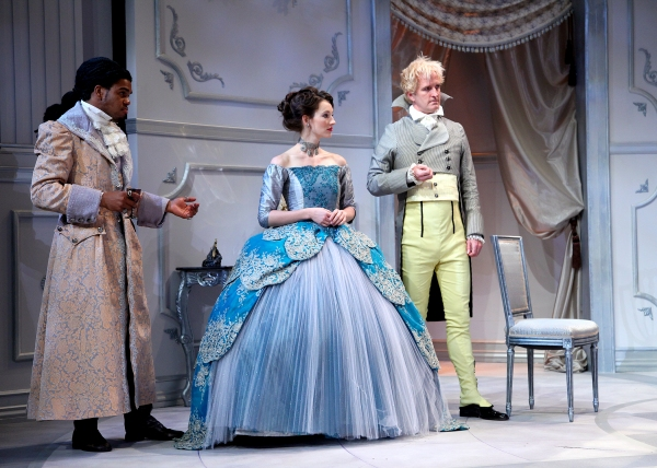Roger Casey, Elizabeth A. Davis, Matt Bradford Sullivan at Shakespeare Theatre of NJ's THE MISANTHROPE