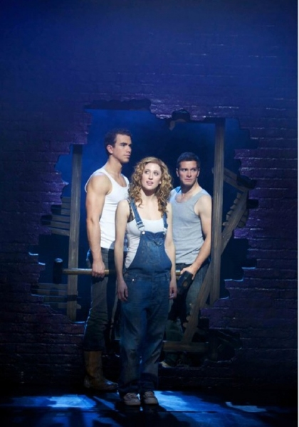 RIchard FLeeshman, Caissie Levy and Andrew Langtree