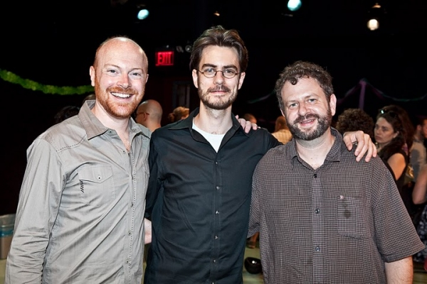 Jeff Biehl, director Seth Bockley and playwright Jason Grote
